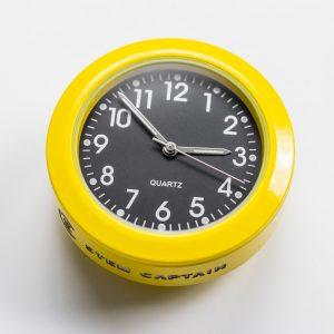 FLUORO SERIES STEM CAP CLOCK, 36mm, YELLOW