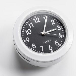 FLUORO SERIES STEM CAP CLOCK, 36mm, WHITE